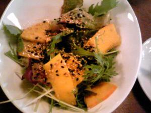 「生食南瓜のサラダ」ビストロブーレ(福岡市)
