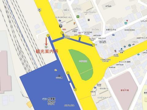 水原観光案内所の地図