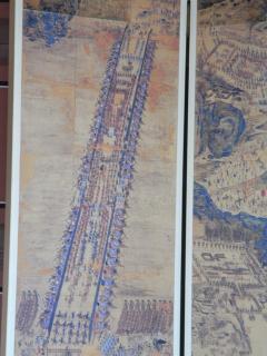 漢江を渡るために作った 船の橋 絵図 (華城行宮)