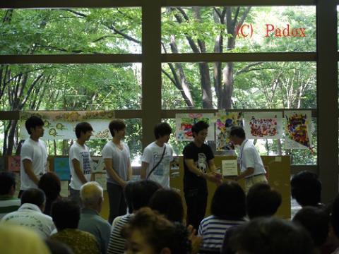 2011.7.29 CODE-V あずま総合運動公園避難所にて