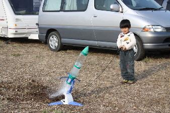 ロケット発射の瞬間