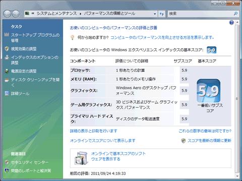 【SSDSA2CW300G3】Windows Experience Index(Vista)