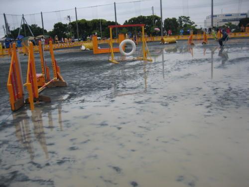 雨の競技会