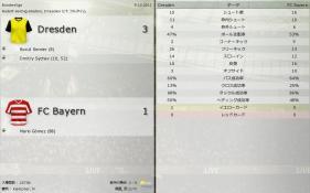 Dresden 対 FC Bayern (分割画面)