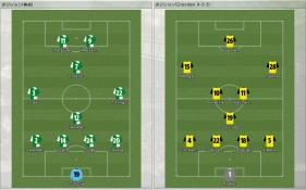 Werder Bremen 対 Dresden (フォーメーション)