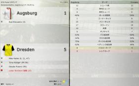 Augsburg 対 Dresden (分割画面)