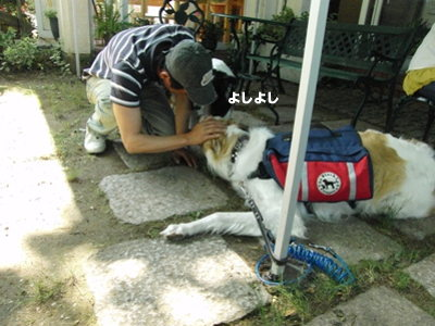 BBQオフ会 nanapapaさん&アーサーくん