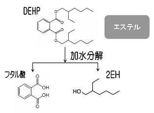 フタル酸エステルの加水分解
