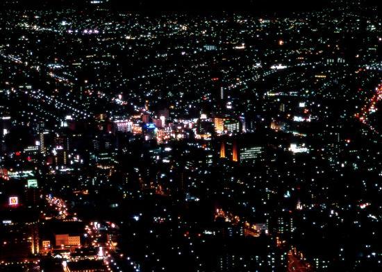 函館夜景(函館駅東側周辺)