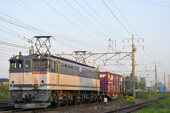 1554レ EF65-1117号機