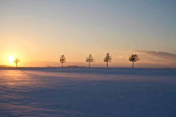 まだ戻らぬ太陽の位置 メルヘンの丘