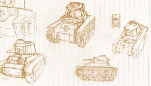 落書き軽戦車