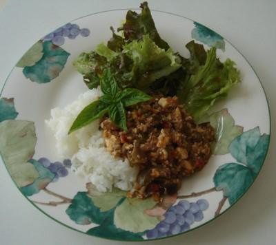 豆腐入りミートソース