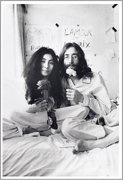 ジョンとヨーコ白黒