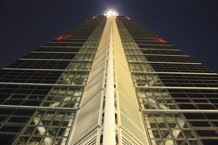 福岡タワーを後ろから