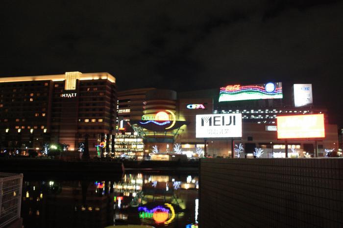 キャナルシティの夜景
