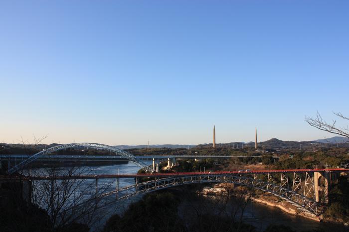 西海橋と新西海橋と針尾無線塔