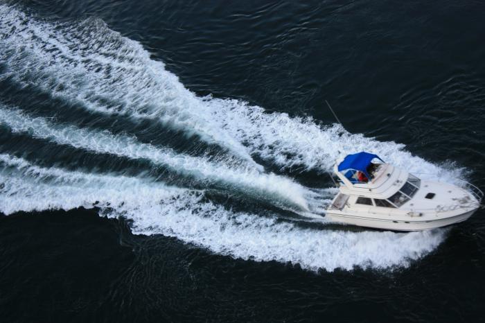西海橋のボート