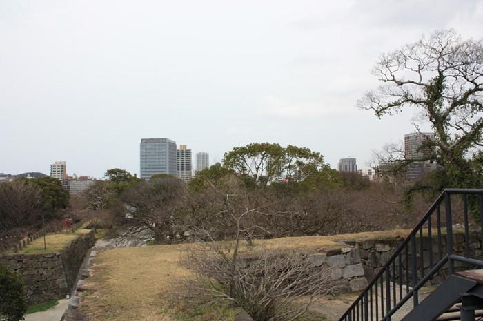 福岡城跡 天守台からの眺め