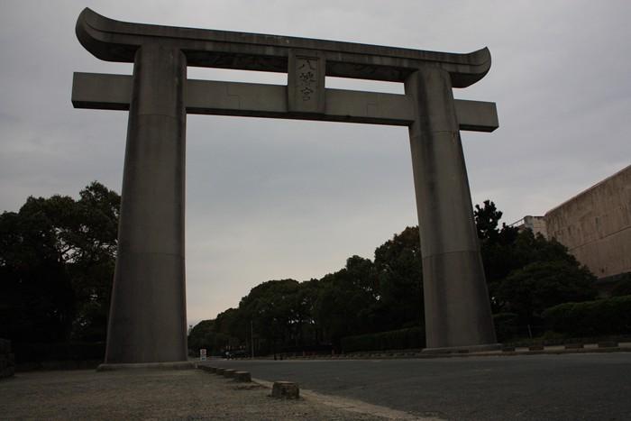 筥崎八幡宮(箱崎宮)のでっかい鳥居