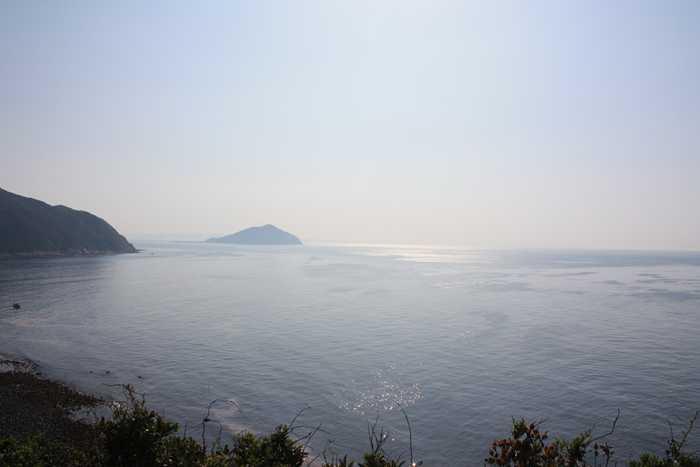 展望所から見た海