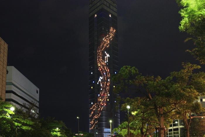 七夕仕様の福岡タワー