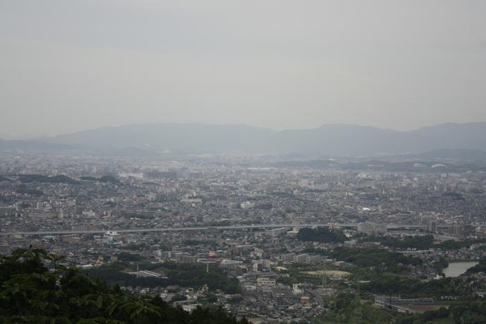 油山市民の森から見る福岡市