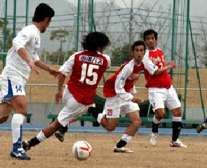 01 Apr 07 - Action from the Mitsubishi Mizushima - TDK SC game