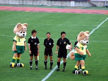 01 Aug 07 - Mascots a-go-go at JEF Reserves