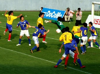 01 Aug 07 - Things get exciting at Tochigi vs Yokogawa Musashino