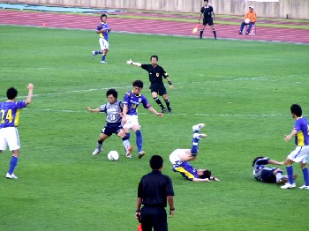 01 Jul 06 - Rough and tumble as RKU take on Yokogawa Musashino