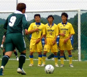 03 Jun 07 - A Wiese Shiogama free kick against Furukawa Battery