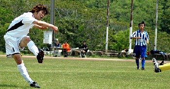 03 May 07 - FC Central Chugoku go for goal against JFE Steel