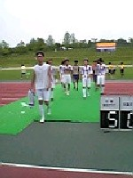 03 Nov 05 - Kyoto Shiko Club leave the field after thumping Osaka Gas
