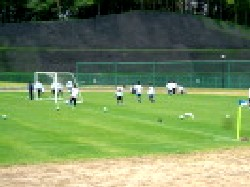 04 Jun 06 - Calm yourselves. It's the warm-up before NEC Tokin clash with Sendai Nakata Club