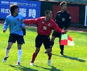 04 Nov 06 - Norbritz Hokkaido in blue get a stuffing from Consadole