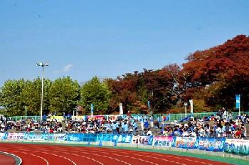 05 Nov 06 - YKK AP fans gather in Akita for their clash with Omiya Ardija