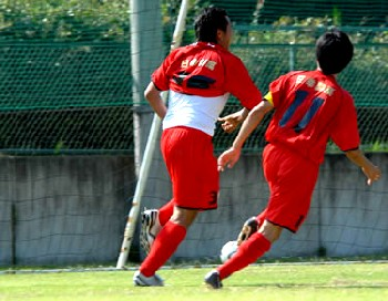 06 Aug 06 - Morishin's celebrate a goal in their defeat by Nagoya