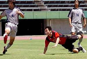06 Aug 06 - Volca Kagoshima go for goal against Nippon Steel