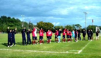 Fagiano Okayama after their Chugoku League win over Yamaguchi Teachers
