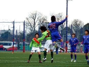 07 Mar 07 - FC Kariya in their groovy green kit clash with FC Tokyo