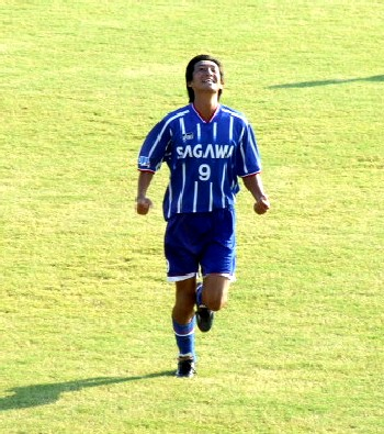 09 Aug 06 - Sho Gokyu celebrates his 482nd goal of the game against JEF