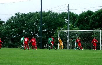 09 Jul 06 - Blackpecker Hakodate defend against Sapporo Football Group