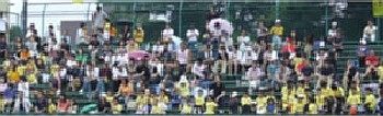 09 Jul 06 - Part of the crowd of 830 at the Valiente - Shinjo derby match