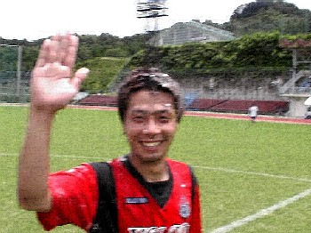 09 Jul 06 - Seima Nagata of Volca Kagoshima celebrates his birthday by being pelted with flour and egggs following the team's win over Kaiho Bank