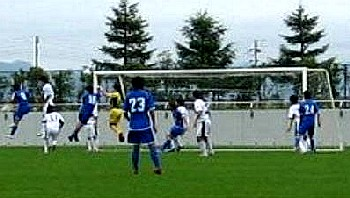 09 Jul 06 - TDK in blue give Morioka Zebra a footballing lesson