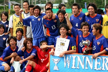 10 Sep 06 - The distinctly chirpy-looking Japan Soccer College, Hokushinetsu League champions