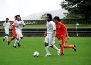 10 Sep 06 - Ventana AC in white on their way to a vital win over Alex SC