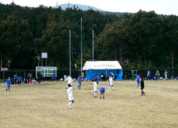 13 Dec 05 - Sasebo SC in white have just beaten FC Amigo 9-0 in their Nagasaki League game