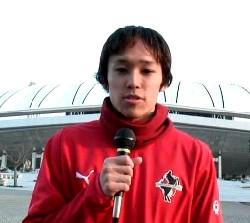 13 Feb 07 - Fresh from his move from Yokogawa Musashino to Rosso Kumamoto, Yosuke Kobayashi